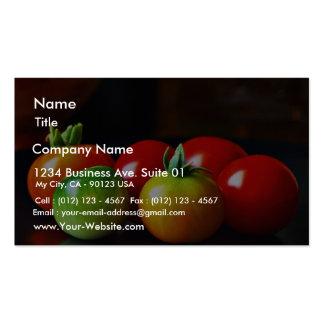 Tomates de cereza plantillas de tarjeta de negocio