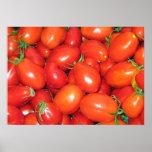 Tomates de ciruelo impresiones