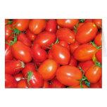 Tomates de ciruelo tarjeta de felicitación