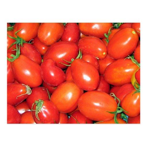 Tomates de ciruelo tarjetas postales