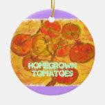 tomates de cosecha propia adornos