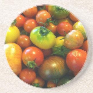 Tomates de la herencia posavasos personalizados