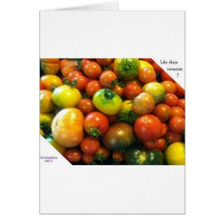 Tomates de la herencia tarjeta de felicitación