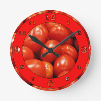 Tomates de Roma Reloj Redondo Mediano