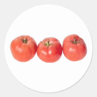Tomates de tomatoes pegatina redonda