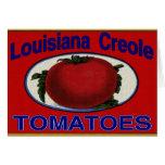 Tomates del criollo de Luisiana Felicitación