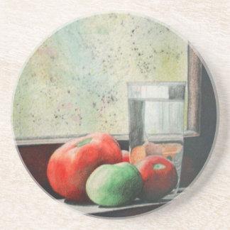 Tomates del Windowsill Posavasos Para Bebidas
