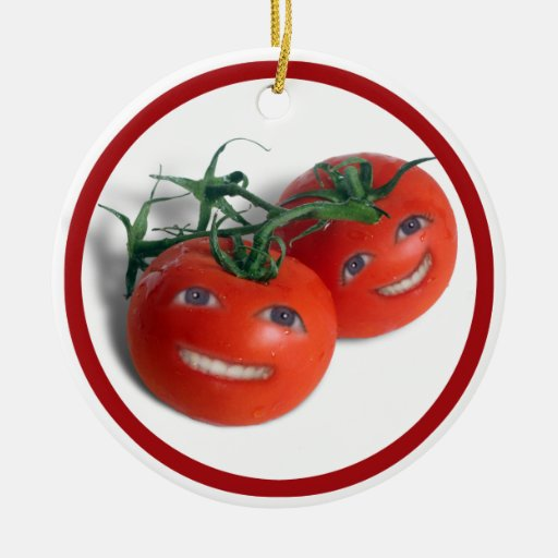 Tomates dulces ornamento de navidad