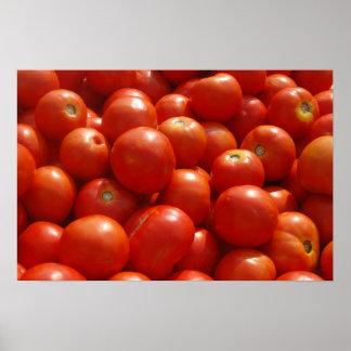 Tomates en el mercado poster