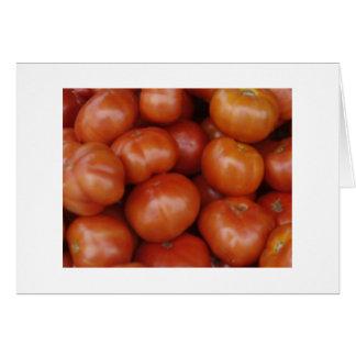 Tomates en el mercado verde, Schenectady NY Tarjeta Pequeña