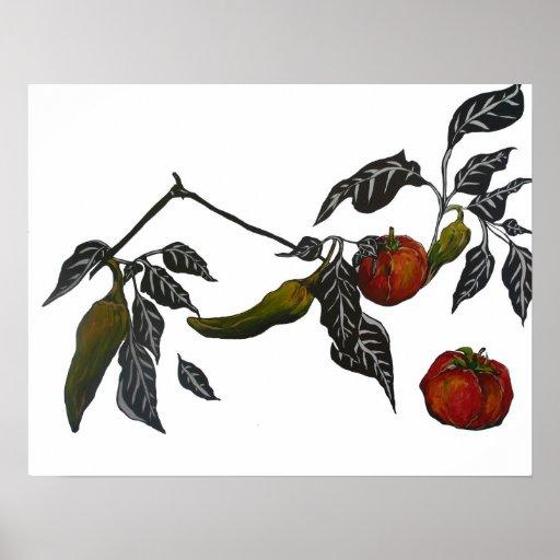 Tomates en la vid poster