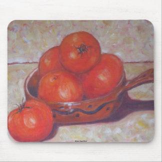 Tomates en un plato alfombrillas de raton
