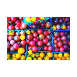 tomates impresión en lona estirada