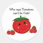 Tomates lindos etiqueta redonda