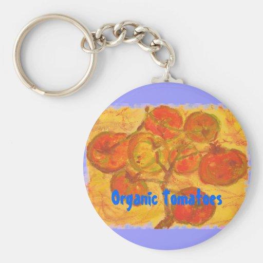 Tomates orgánicos llavero personalizado