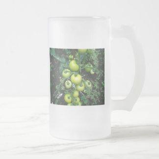 Tomates orgánicos taza cristal mate