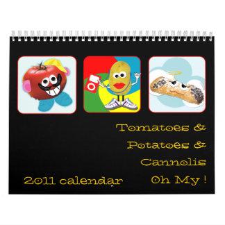 '' tomates, patatas y calendario divertido del