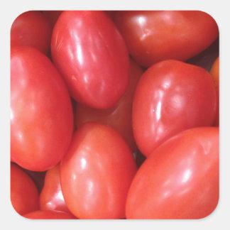 Tomates Calcomanías Cuadradass