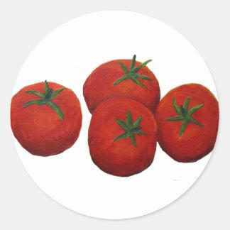 Tomates Pegatina Redonda