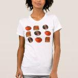 Tomates, peniques, tostada camiseta
