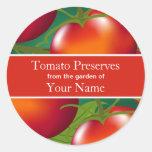 Tomates que conservan al pegatina