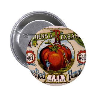 Tomates rojos maduros del anuncio del vintage pins
