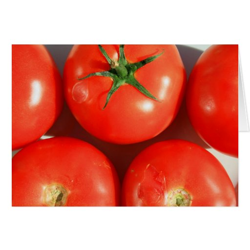 Tomates rojos Notecard Felicitación
