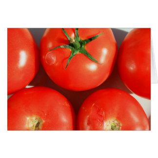 Tomates rojos Notecard Tarjeta Pequeña