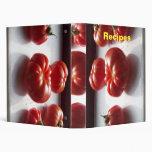 Tomates rojos, recetas, carpeta