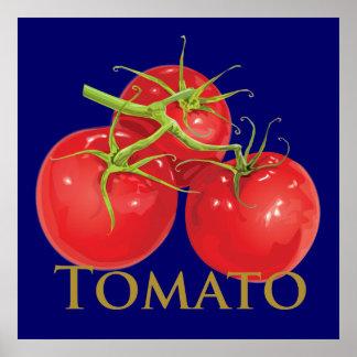 Tomates rojos regordetes póster