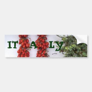 Tomates secados al sol de Italia Pegatina De Parachoque