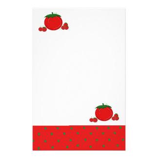 Tomates simplemente rojos papelería personalizada
