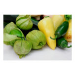Tomatillo And Chili Peppers Print