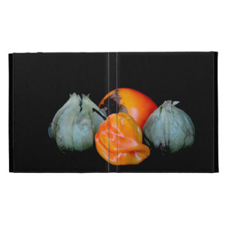 tomatillo pepper persimmon fruit vegetable image iPad folio cases