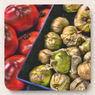 Tomatillos picante y tomates posavaso