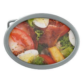 Tomato and Bacon Salad Belt Buckles