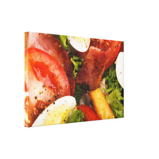 Tomato and Bacon Salad Gallery Wrapped Canvas