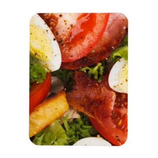 Tomato and Bacon Salad Rectangular Magnet