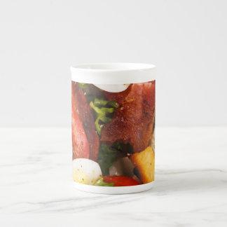 Tomato and Bacon Salad Porcelain Mug