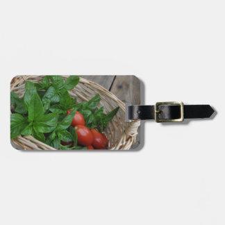 Tomato and Basil Dreams Travel Bag Tag