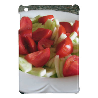 Tomato and cucumber salad case for the iPad mini