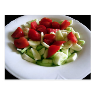Tomato and cucumber salad\ postcard