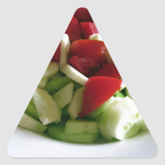 Tomato and cucumber salad\ triangle sticker
