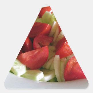 Tomato and cucumber salad triangle sticker