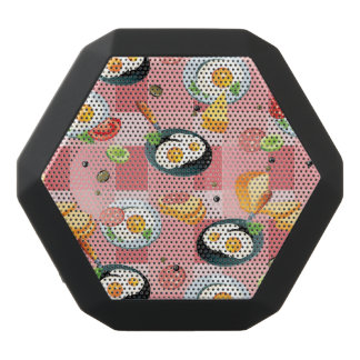 Tomato and Fried Eggs Pattern Black Bluetooth Speaker