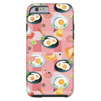 Tomato and Fried Eggs Pattern Tough iPhone 6 Case