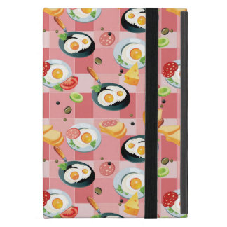 Tomato and Fried Eggs Pattern Case For iPad Mini
