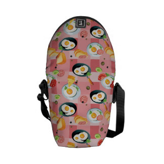 Tomato and Fried Eggs Pattern Messenger Bag