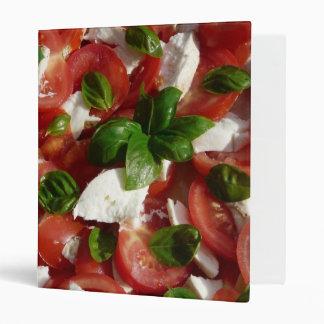 Tomato and Mozzarella Salad 3 Ring Binder