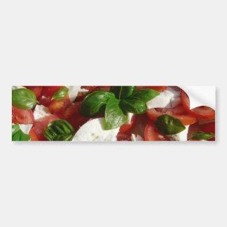 Tomato and Mozzarella Salad Bumper Sticker
